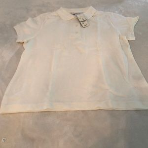 Girls Brooks Brothers White Polo Shirt size xl